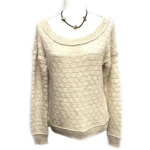 American Eagle Alpaca Cotton Wool Cream Sweater L